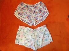 WOMENS LADIES BED PYJAMA SHORTS  FLORAL  BUTTERFLY SIZES 8 10 12 14 16 18 20 22