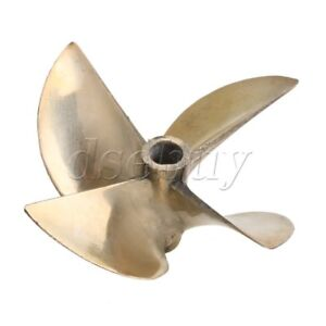 """4 Blades Alloy Propeller Dia 67mm Pitch 1.7 with Dia 1/4"""" Shaft for RC Boat"""