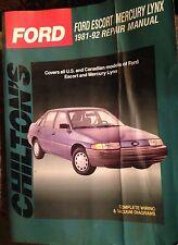 Ford Escort-Mercury Lynx, 1981-92 : Total Car Care (1992, Paperback)