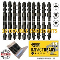 10x 65mm SabreCut Impact Drill Driver Double Ended Screwdriver Mixed Bits Set