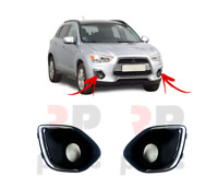 FOR MITSUBISHI ASX 2013 - 2018 FRONT BUMPER FOG LIGHT GRILLE PAIR SET