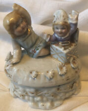 English Early Small Fairing Box Child w/Jack In Box Toy Gilding RARE