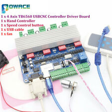 4 Axis Tb6560 Nema23 Usb Cnc Stepper Motor Driver Board Controlhand Controller