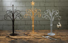"""12 Arm SILVER Ornament Jewelry Stand Table Top Tree Changeable Topper 19"""" 34141"""