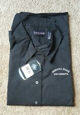 Oxford Ladies Indiana State University 3/4 Sleeve Shirt, button down, Sz. L