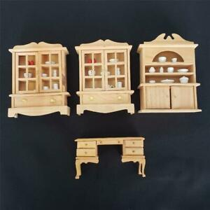 = Rite Aid Corp Lot of 4 Piece Dollhouse Furniture Desk And 3 Hutches Wood