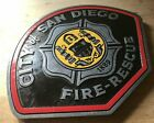 Fire Department San Diego 3D routed wood patch plaque sign Custom
