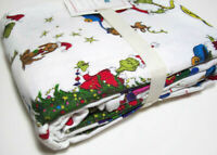 Pottery Barn Kids The Grinch And Max Flannel Organic Cotton Twin Sheet Set New