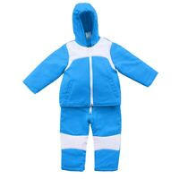 Toddler Baby Boys Girl Romper Hooded Jacket Jumpsuit Coat Outfit Winter Snowsuit