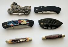 Pocket Folding Knives of Various Makers and Conditions Lot of 6 Sold AS IS