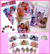 Winx Club Fairy  Butterflix 56pc BIRTHDAY PARTY SET Musa Stella Bloom Flora Lay