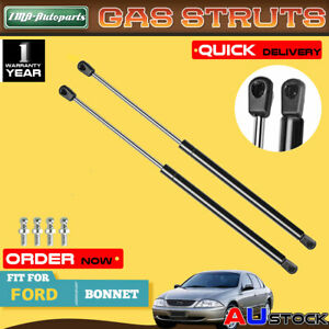 2x For Ford Falcon Fairmont EA EB ED EF EL Sedan Station Wagon Bonnet Gas Strut