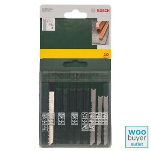 Bosch 10-Piece Jigsaw Blades Set Wood Metal Plastic U Shank  2607019460