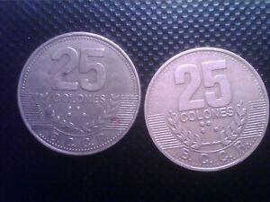 COSTA RICA   25   COLONES   1995   2007   BIG COIN   JUL19