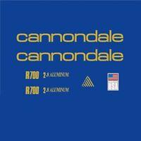 Cannondale R700 Cuadro de Bicicleta Adhesivos - DECALS - Transfers: Dorado N.9