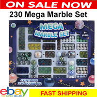 Kids Glass Marbles Marble Set Indoor Outdor Game 230 MARBLES Playground Children