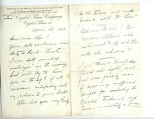 AUGUST MANNS AUTOGRAPHED LETTER SIGNED CONDUCTOR DIRECTOR LONDON CRYSTAL PALACE