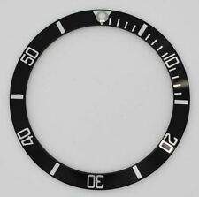 BEZEL INSERT FOR ROLEX SUBMARINER WATCH BLACK SILVER CASES 16610 16800 part #5