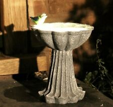 More details for solar powered bird bath feeder garden outdoor ornament patio feature statue