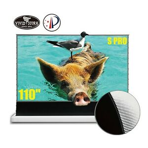 "VIVIDSTORM S PRO 110"" Electric Tension Floor UST ALR Projection Screen Motorized"