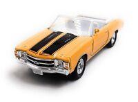 1971 Chevrolet Chevelle Ss 454 Jaune Maquette de Voiture Auto Échelle 1:3 4