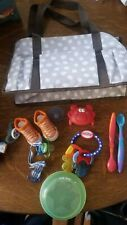 lot of baby items diaper bag nuby and other infant items