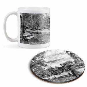 Mug & Round Coaster Set - BW - Romantic Couple London Big Ben   #42513