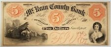 1850's $5 remainder note from the McKean County Bank, Pennslyvania! No pinholes!