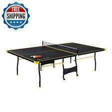 Official Size Indoor Table Tennis Ping Pong 2 Paddles Balls Included 15mm