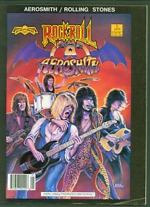 AEROSMITH / ROLLING STONES ROCK N' ROLL COMICS #1 MAGAZINE SIZE  1990 1ST PRINT