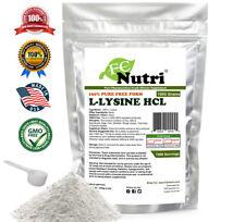 1000g (2.2 lb) 100% L-LYSINE HCL POWDER US PHARMACEUTICAL GRADE KOSHER nonGMO