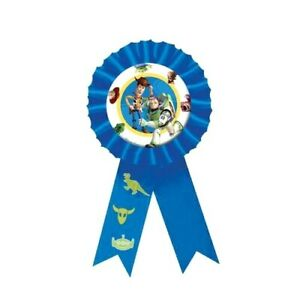 DISNEY TOY STORY - ROSETTE BADGE - CHILDREN'S BIRTHDAY PARTY AWARD RIBBON
