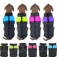 Waterproof Dog Puppy Jacket Padded Pet Clothes Warm Winter Vest Coat Apparel