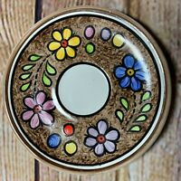 Vintage Hand Painted Cuernavaca Mexican Pottery Saucer Plate Mexican Folk Art