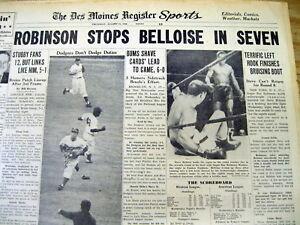 4 1949-1952 headline display newspapers SUGAR RAY ROBINSON Boxing champion