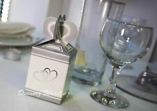 50 Silver Wedding Favour Favor Sweet Cake Candy Gift Box Bags Engagement Party