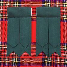 Scottish Kilt Sock Flashes Plain Green Kilt Hose Flashes