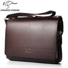 New Men's Handbags Casual Leather Bag Vertical Briefcase Shoulder Messenger Bags