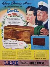 1944 Lane Cedar Hope Chest Easter Sailor Furniture Original Print Ad