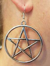 Gran pentáculo metal colgante pendiente 50mm wicca pagano de cinco puntas Pentagrama