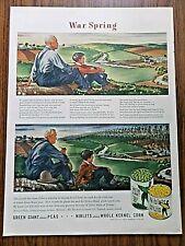 1944 Jolly Green Giant Peas Niblet Corn Ad   War Spring