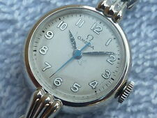 Omega manual wind 14k white gold filled Ladies fully Serviced Swiss Watch