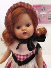 VINTAGE ANTIQUE  VOGUE PAINTED LASH STRUNG GINNY DOLL in TINY MISS SERIES #140