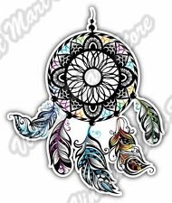 "Dream Catcher Indian Sleep Feathers Car Bumper Window Vinyl Sticker Decal 4""X5"""