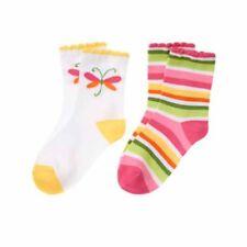 NWT Gymboree Dragonfly Stripe Socks 2 Pack Size 5-7 Shoe Size 11-13 US Tea Time