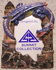 """Picture Frame Medieval Purple Dragon 5 ½"""" x 7 ½"""" for 3 ¼"""" x 5"""" picture NEW"""
