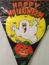 Indoor Outdoor Happy Halloween Pennant Banner 12 Feet Long Ghost Pumpkin New