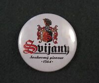 Antiques Pin Badge Svijany 1564 Private brewery Czech beer bier Breweriana White