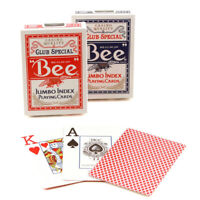 Bee STANDARD index playing cards No. 92 Casino quality Poker Red or Blue 1 Deck
