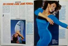 JANE FONDA => 2 PAGES 1984 FRENCH CLIPPING